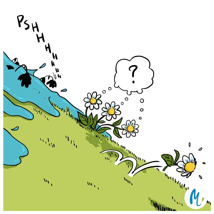 Dessin sur l'impact des pesticides