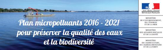 Plan national sur les polluants : le Plan Micropolluants 2016-2021