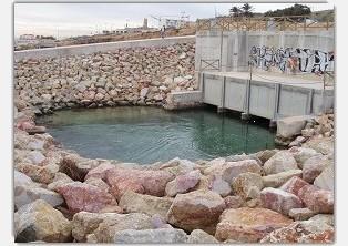 Puits côtier en Espagne utilisé comme point de prélèvement pour les usines de dessalement