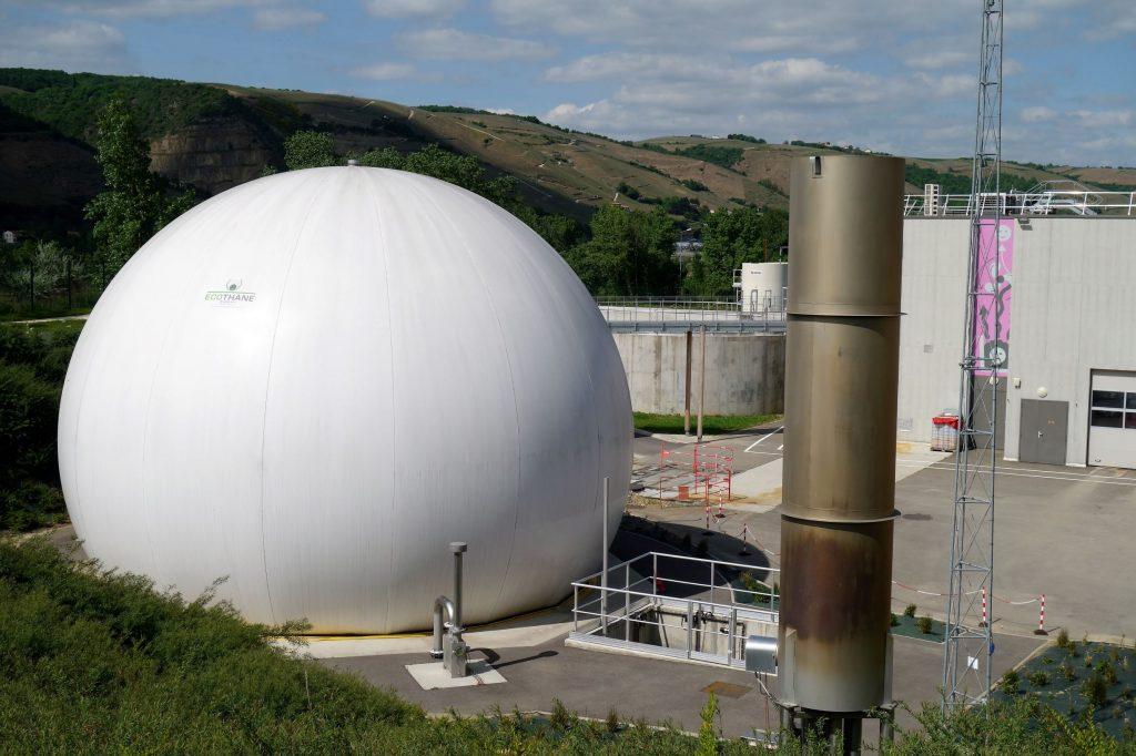 Unité de méthanisation des déchets dans une station d'épuration
