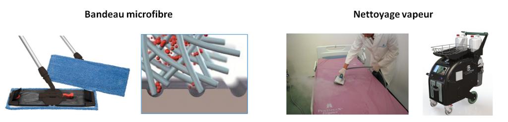 Des alternatives à l'usage de désinfectants : la microfibre et le nettoyage vapeur